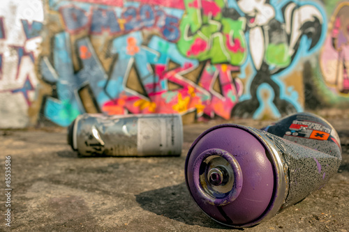 Photo  Spray Can Used For Graffiti | Stock image