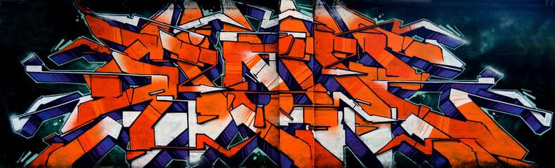 Panel Szklany Graffiti Graffiti - scritta hip hop