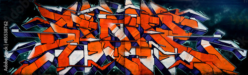 Spoed Foto op Canvas Graffiti Graffiti - scritta hip hop