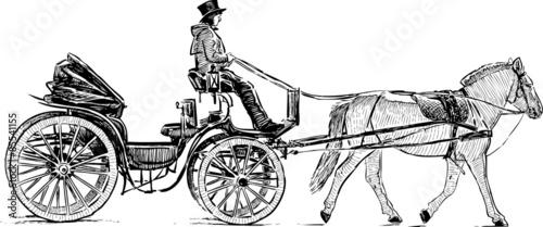 Photo tourist carriage