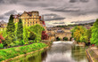 View of Bath town over the River Avon - England
