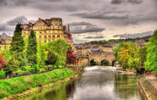 View Of Bath Town Over The Riv...