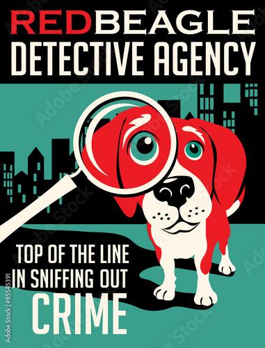 Naklejki na drzwi Reklama agencji detektywistycznej