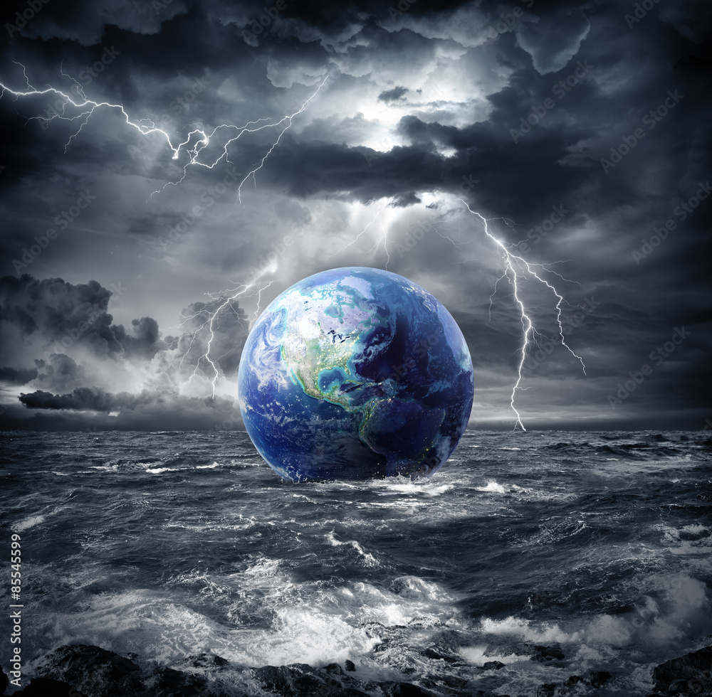 Fototapeta  earth in the storm - apocalypse in Usa