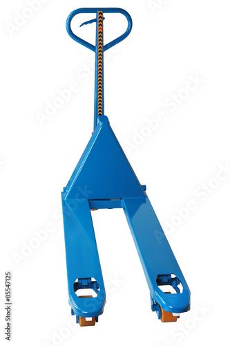 Fotografie, Obraz  material handling equipment, blue hydraulic hand pallet truck