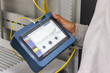 canvas print picture - fiber optic cable testing