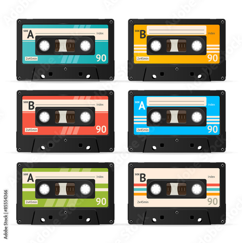 Stampa su Tela Vector Cassette Tape Collection
