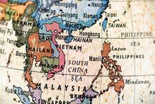 地球儀 東南アジア