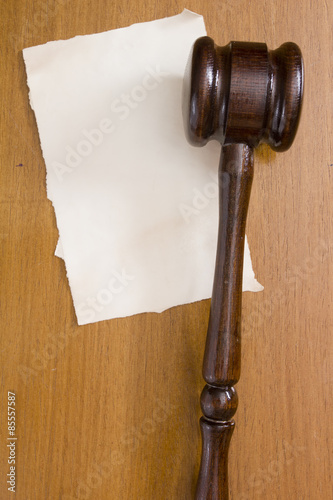 Fotografija  Judges wooden gavel
