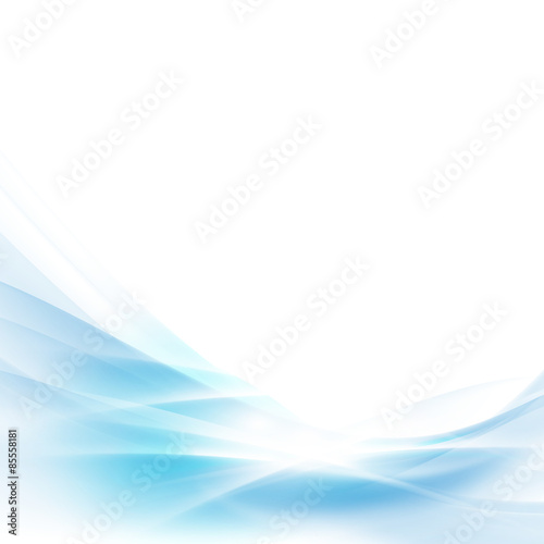 In de dag Abstract wave abstract spread blue wave background, vector illustration