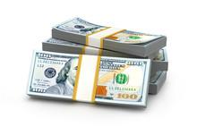 Stacks Of Money. New One Hundr...