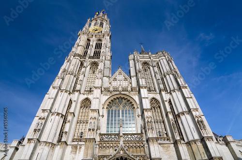 Foto op Plexiglas Antwerpen Cathedral of Our Lady in Antwerp, Belgium