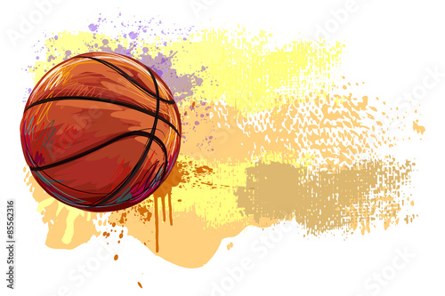 Basketball Banner Canvas Print