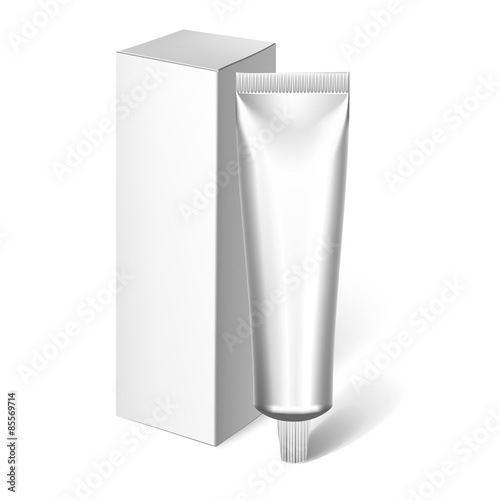 Fotografie, Obraz  Blank Cosmetics Packages, Tube Template