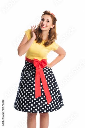 Fotografie, Obraz  Rockabilly Mädel im Kleid