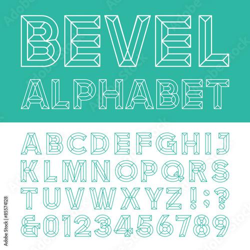 Valokuva  Beveled Alphabet Vector Font