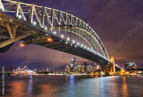 Keuken foto achterwand Bruggen Sydney CBD Bridge Right side set