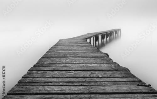 Pontoon in mist