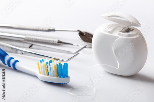 Valokuva  Different tools for dental care