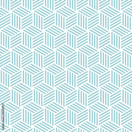 Tapeta ścienna na wymiar Cube light pattern background. Vector background bleu green