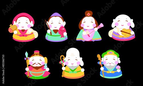 七福神イラスト Adobe Stock でこのストックベクターを購入して類似