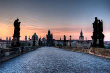 Charles Bridge Prague At Dawn