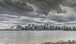 Downtown Vancouver bei Regen