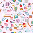 School stationery pattern
