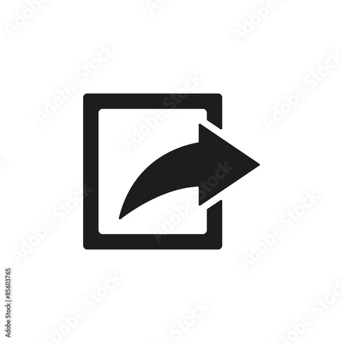 Fotografie, Obraz  The share icon. Action symbol. Flat