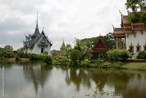 Photo Stands Bangkok The Ancient City at Ayutthaya
