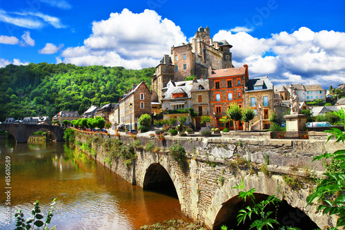 Estaing -one of the most beautiful villages of France Canvas Print