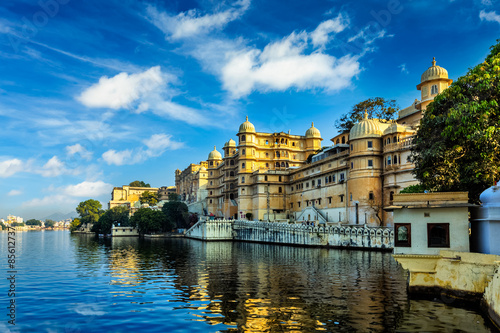 Foto  City Palace. Udaipur, India