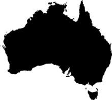 Mapa Australii Kontur