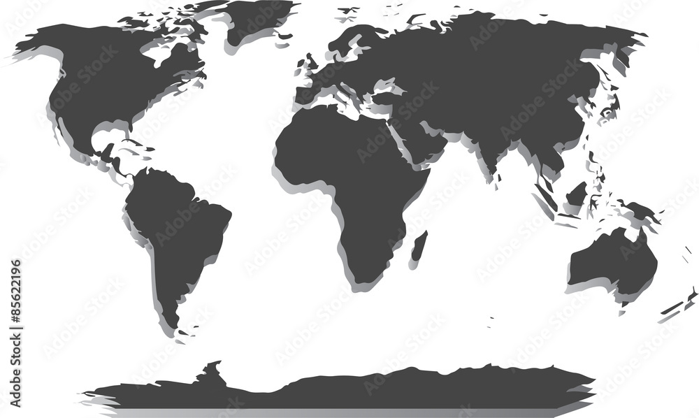 Fototapeta Pusta Mapa Świata