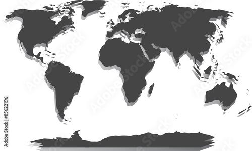Fototapeta Pusta Mapa Świata obraz
