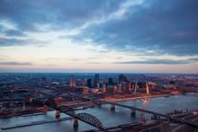 St. Louis Missouri Aerial Skyline Sunrise