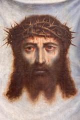 Fototapeta Granada - face of Jesus Christ paint in Monasterio de la Cartuja