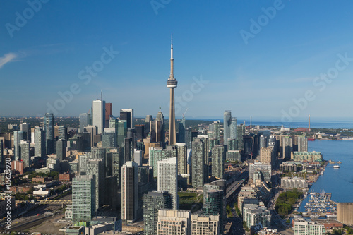 Spoed Foto op Canvas Toronto Downtown Toronto from the air