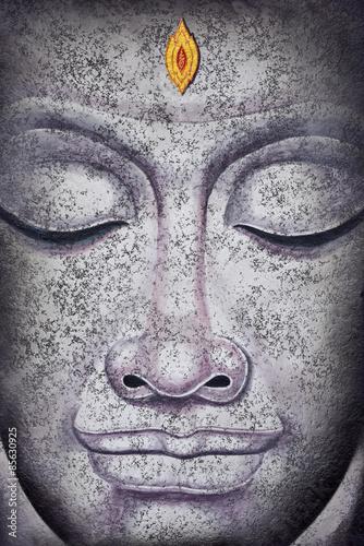 buddha face acrylic painting Slika na platnu