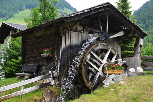Poster Molens wooden mill