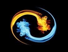 Yin-yang Symbol, Ice And Fire