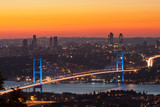 Bosphorus Bridge at sunset, Istanbul Turkey