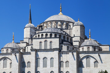 Fototapeta na wymiar East facade of the Blue Mosque
