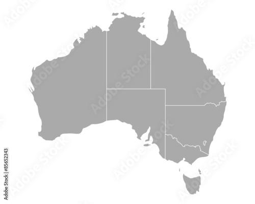 Obraz na plátně Karte von Australien