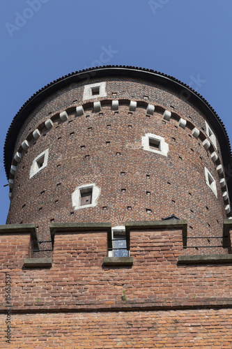Sandomierska Tower on Wawel Royal Castle , Cracow, Poland #85653537