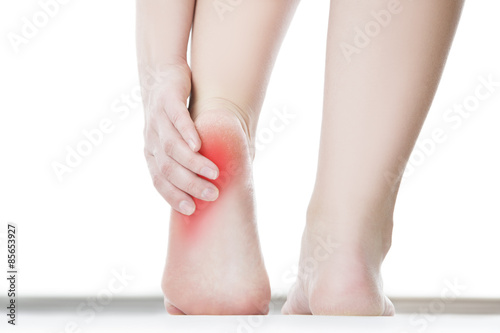 Pain in the female foot Canvas