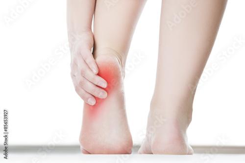 Fotografia  Pain in the female foot