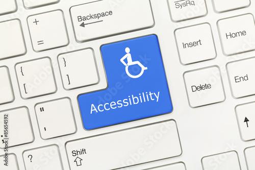 Photo White conceptual keyboard - Accessibility (blue key)