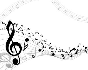 Naklejka Musical background