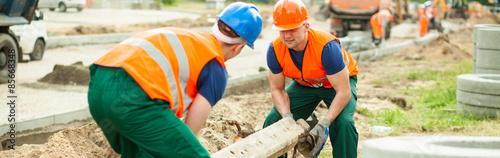 Fotografie, Obraz  Heavy cement construction